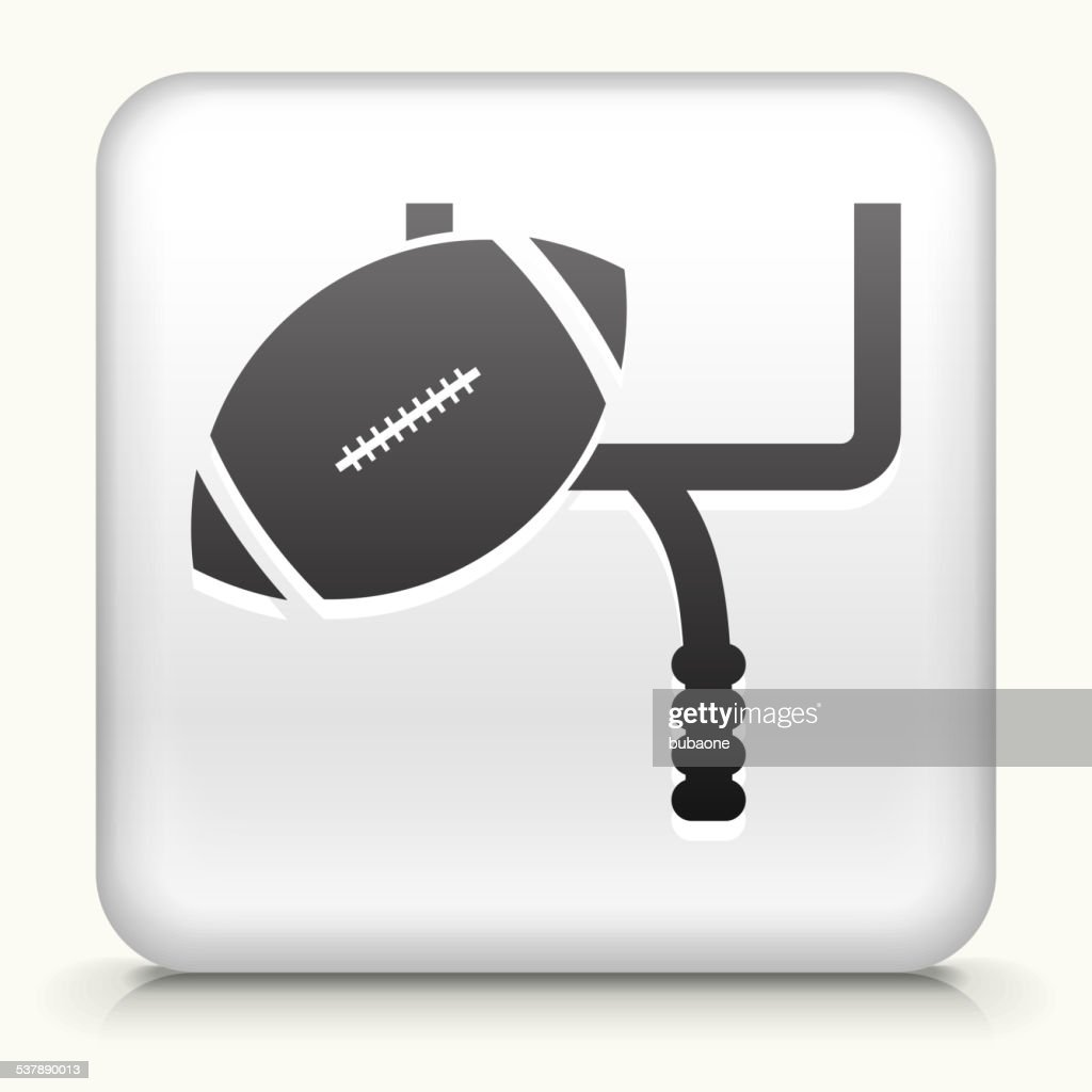 Square Button with Field Goal royalty free vector art