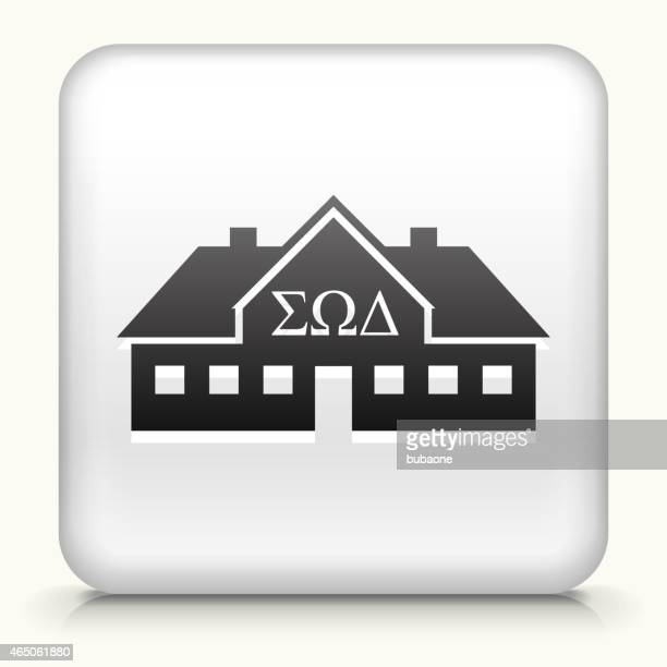 Square Button with Frat House interface icon