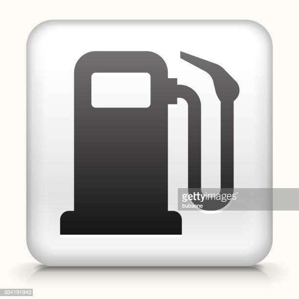 Square Button with Gas Pump
