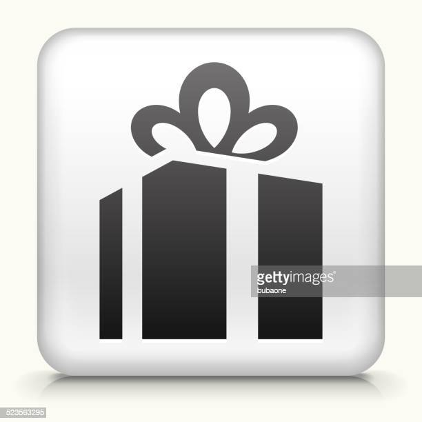 Bouton carré avec coffret cadeau