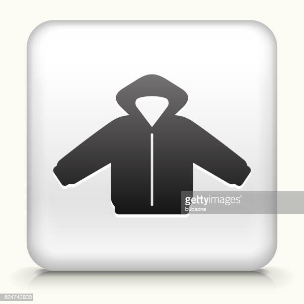 Square Button with Jacket royalty free vector art