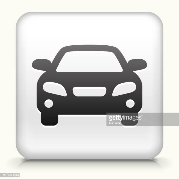 Square Button with Luxury Car royalty free vector art