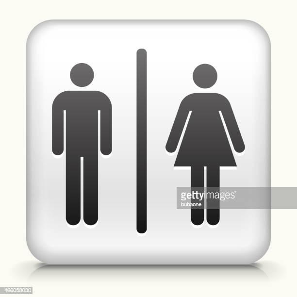 Botão Quadrado com Homem e mulher Símbolo de Casa de Banho 627a3135b42