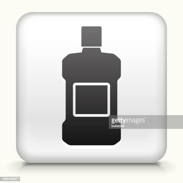 square button with mouthwash royalty free vector art - mouthwash stock illustrations