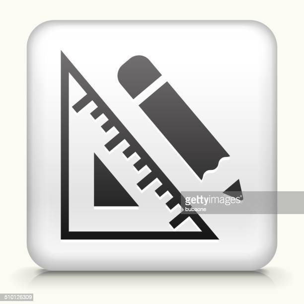 square button with pencil and ruler royalty free vector art - {{relatedsearchurl('racing')}} stock illustrations, clip art, cartoons, & icons