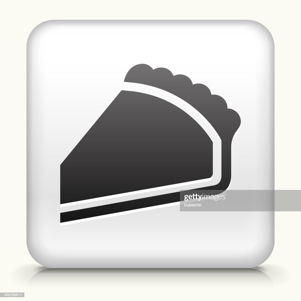 Square Button with Pie royalty free vector art : stock illustration