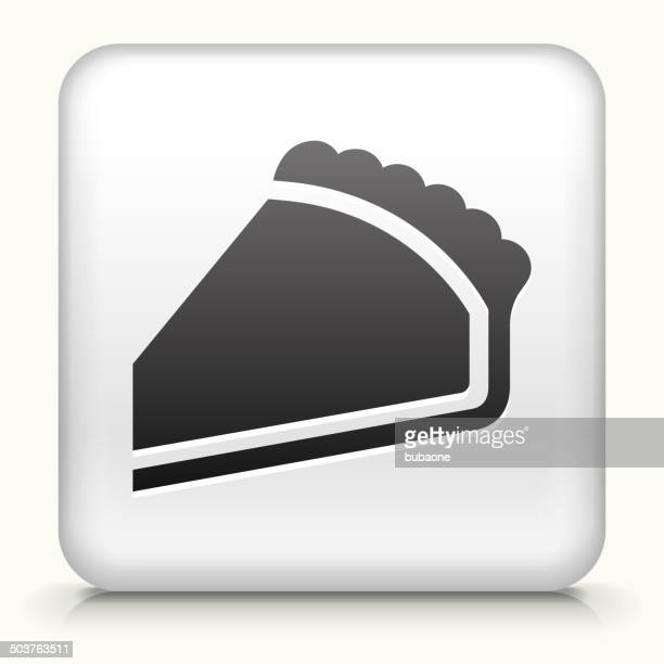 square button with pie royalty free vector art - meat pie stock illustrations, clip art, cartoons, & icons