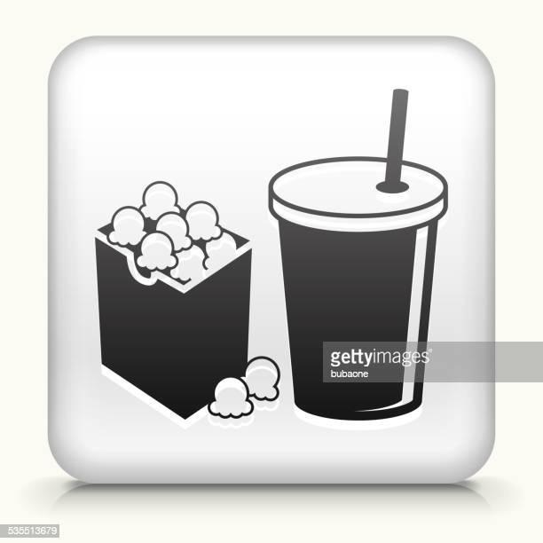 """Square """"mit Popcorn & Getränk Lizenzfreie Vektorgrafiken"""