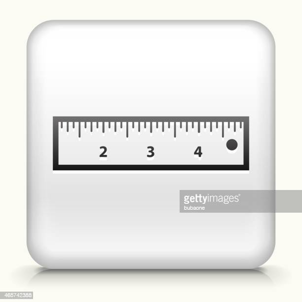 Square Button with Ruler royalty free vector art