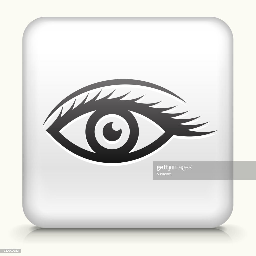 Square Button with Sexy Eye design vector icon : stock illustration