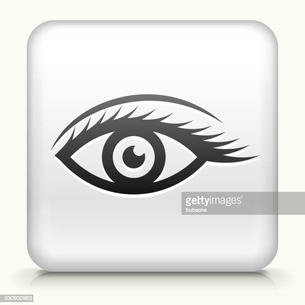 Square Button with Sexy Eye design vector icon