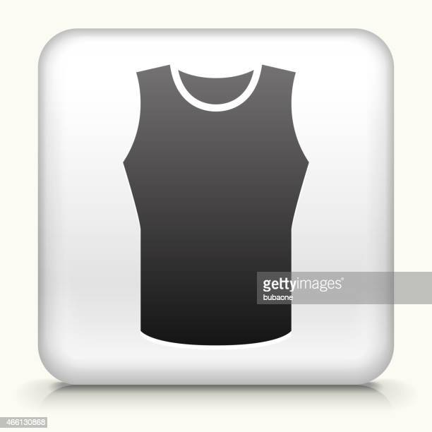 square button with sleeveless shirt - sleeveless stock illustrations, clip art, cartoons, & icons