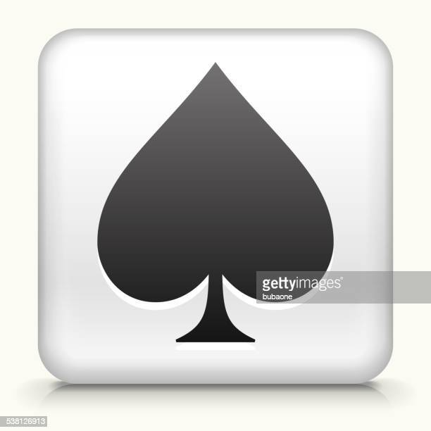 square button with spades royalty free vector art - trowel stock illustrations, clip art, cartoons, & icons