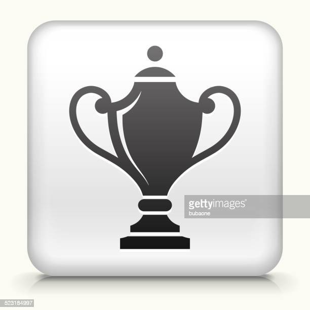 ilustrações, clipart, desenhos animados e ícones de botão quadrado com troféus - trophy