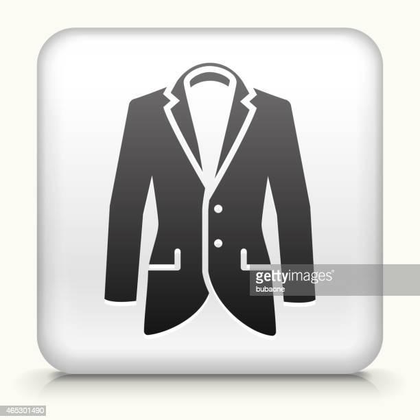 Square Button with Tuxedo interface icon