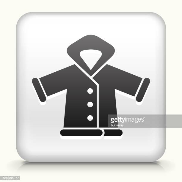 Square Button with Winter Jacket