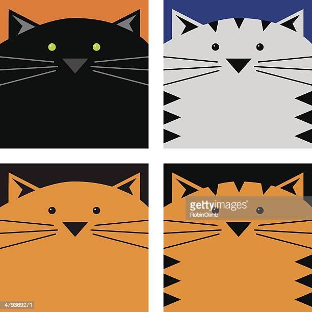 Square Cat Faces