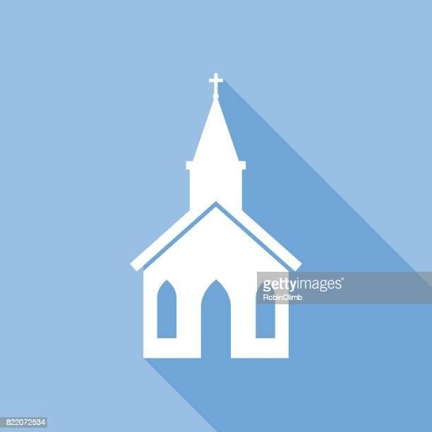 square church icon - religious icon stock illustrations