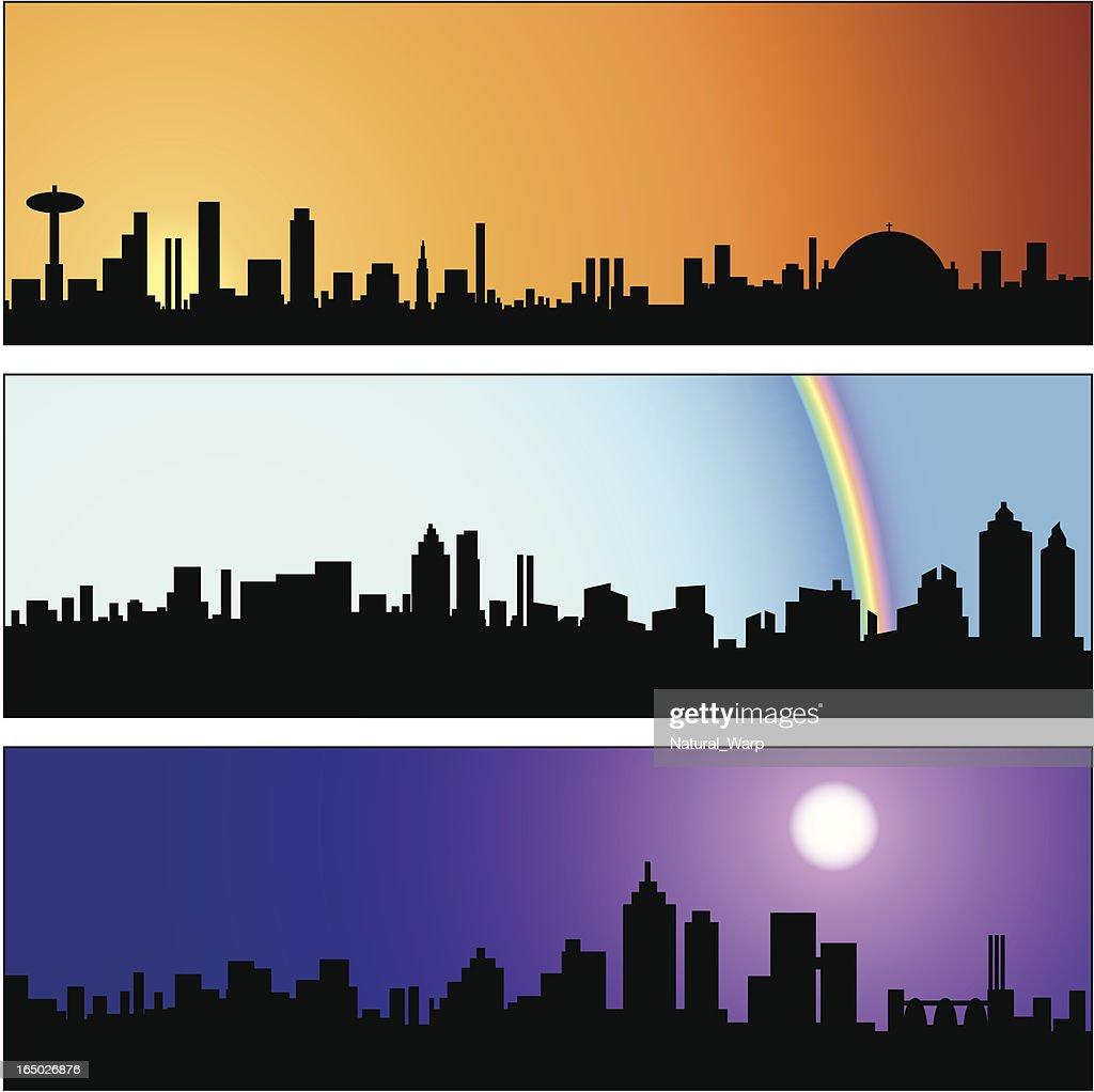 Square City Skyline Panel 02