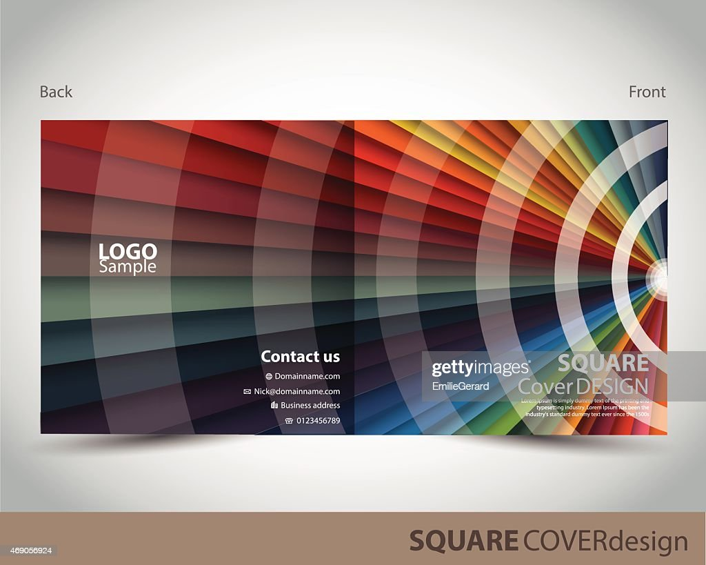 Square cover design made of different colors