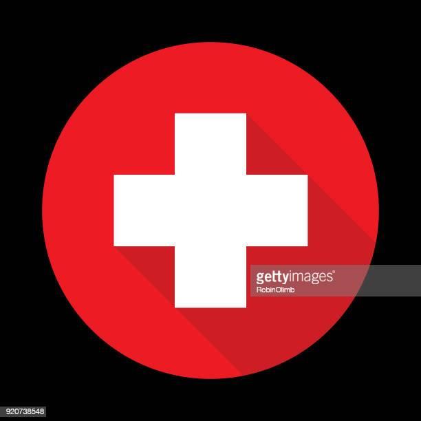 square cross icon - cross shape stock illustrations, clip art, cartoons, & icons