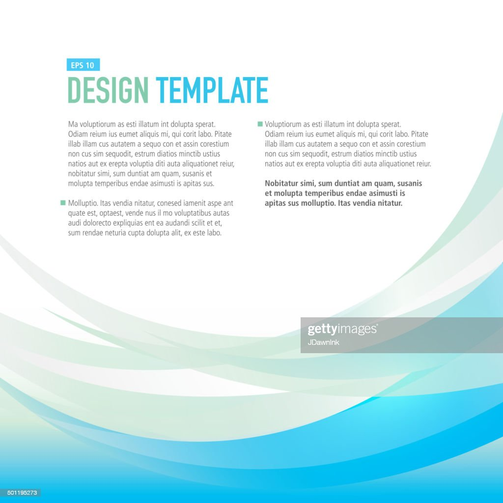Square Design Layout Template With Blue And Yellow Sample