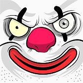 Square Faced Evil Clown