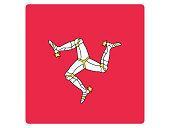 Square Flag of Isle of Man