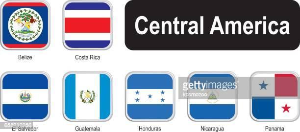 中央アメリカの正方形の国旗 - エルサルバドル国旗点のイラスト素材/クリップアート素材/マンガ素材/アイコン素材