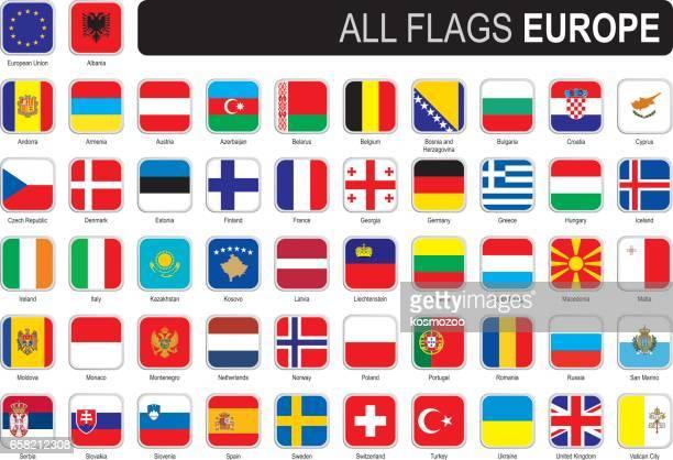 Fyrkantiga flaggor i Europa