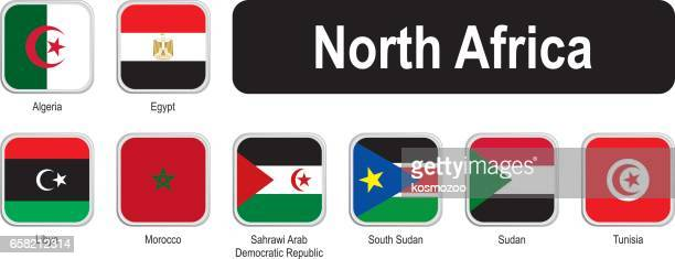 Square flags of north Africa