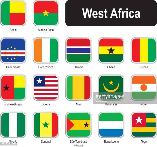 Square flags of west Africa