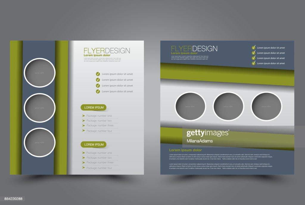Square flyer template. Brochure design.