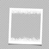 Square frame Christmas snow