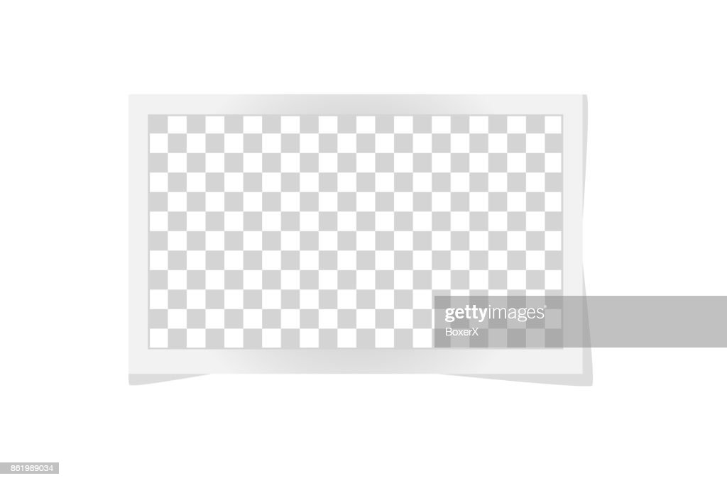 Square frame template with shadows isolated on white. Vector illustration