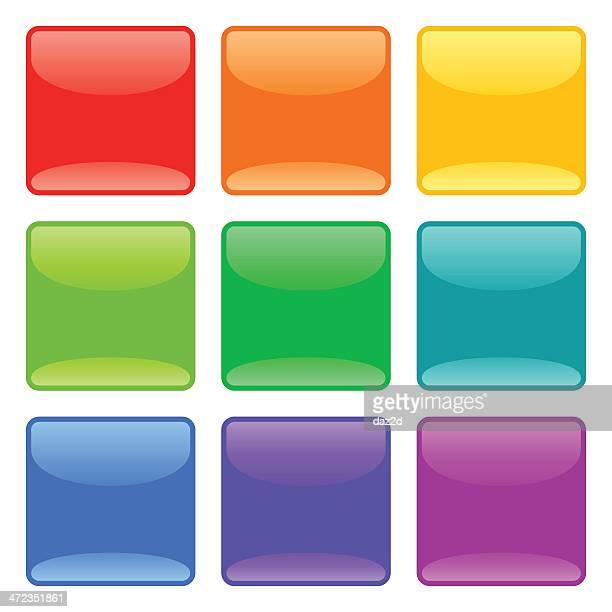 Square Glass Button Set