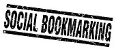 square grunge black social bookmarking stamp