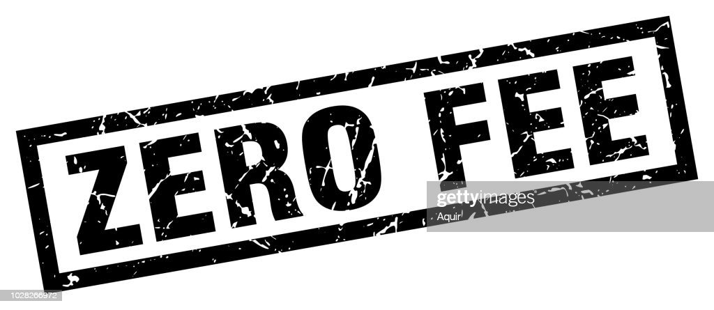 square grunge black zero fee stamp