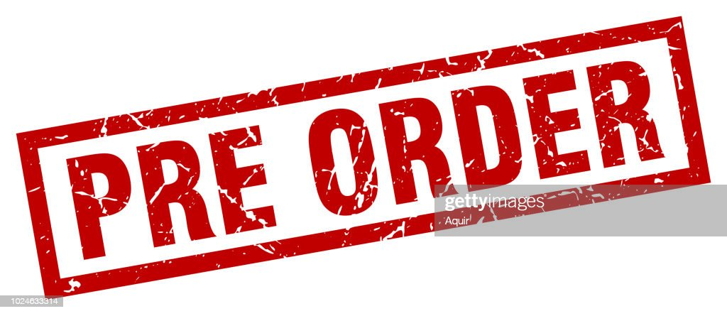 square grunge red pre order stamp
