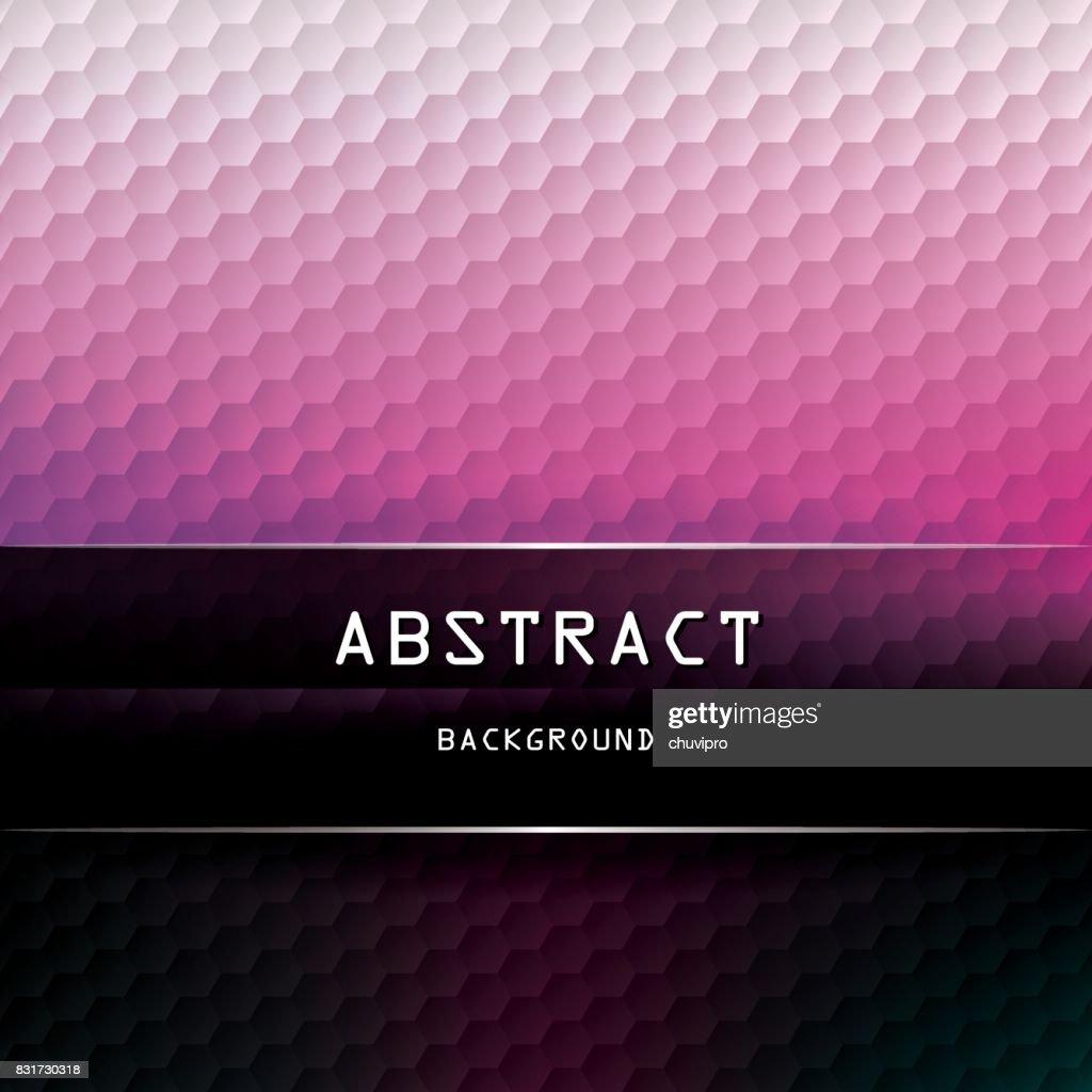 Square Hexagon geometric background - White, Light Pink, Fuchsia, Dark Purple-Blue, Black