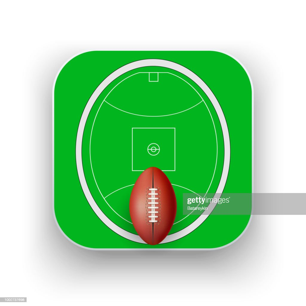 Square icon of Australian rules football sport