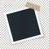 Square image place concept, single isolated object on transparent background.
