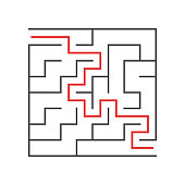 square labyrinth for kids game is