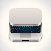 Square laptop icon