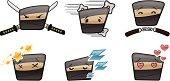 Square Ninja Head Icons