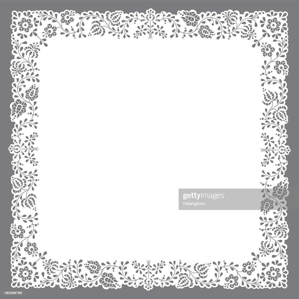 Square paper cut doily