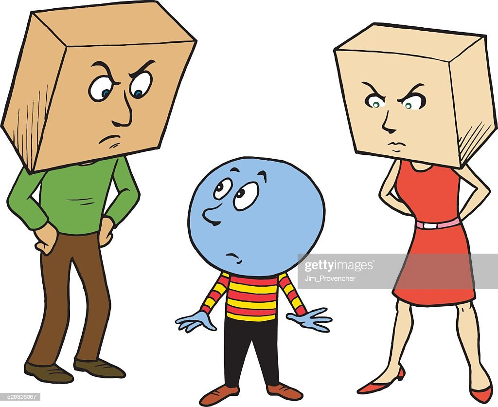 Square  Parents with Round Kid