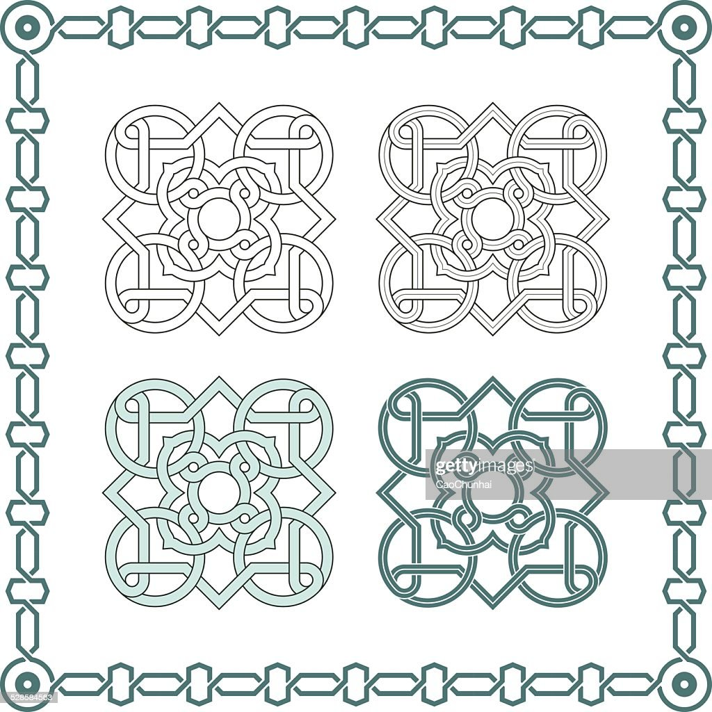 Square patterns-Celtic knot style