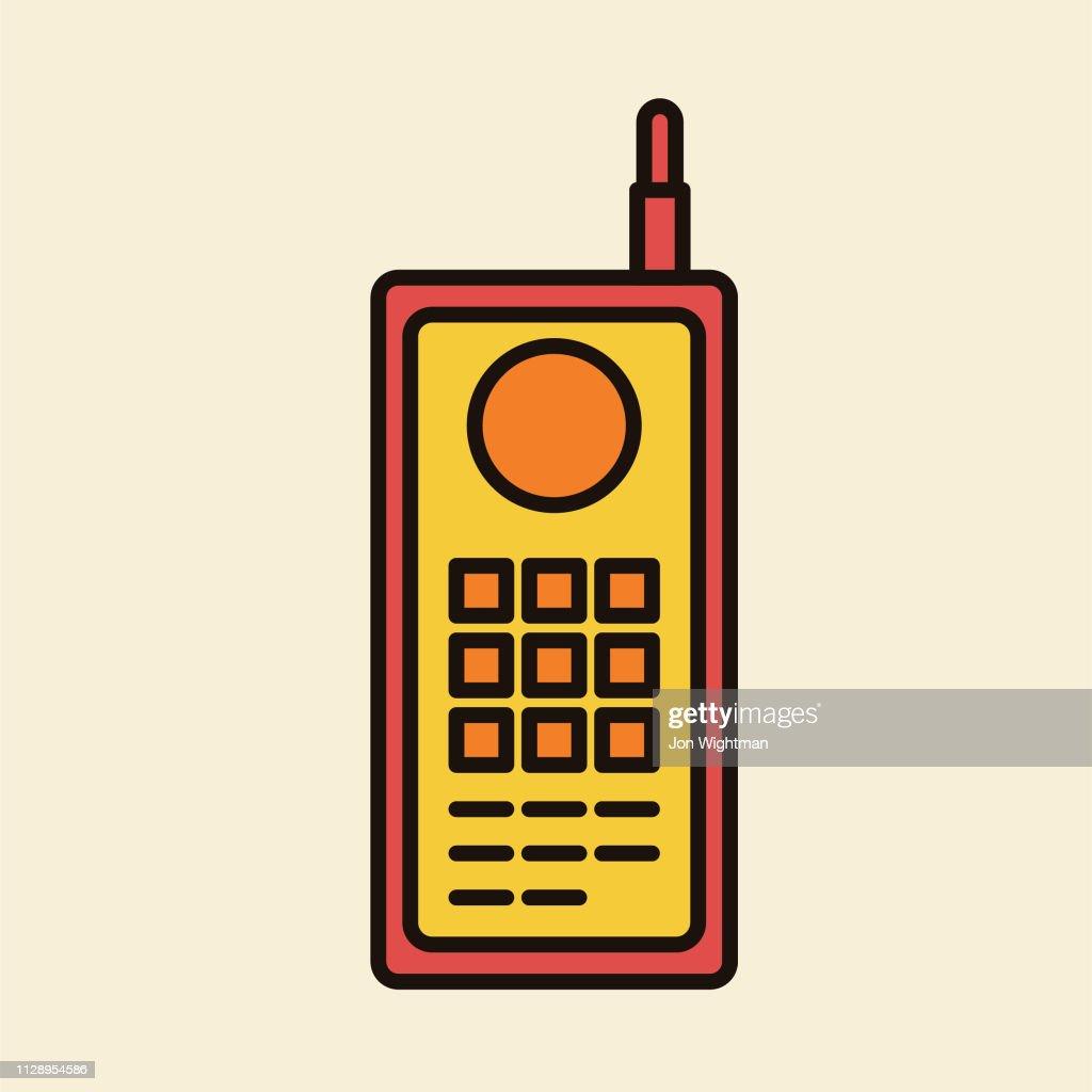 Square Phone - Thin Line Phone Icon