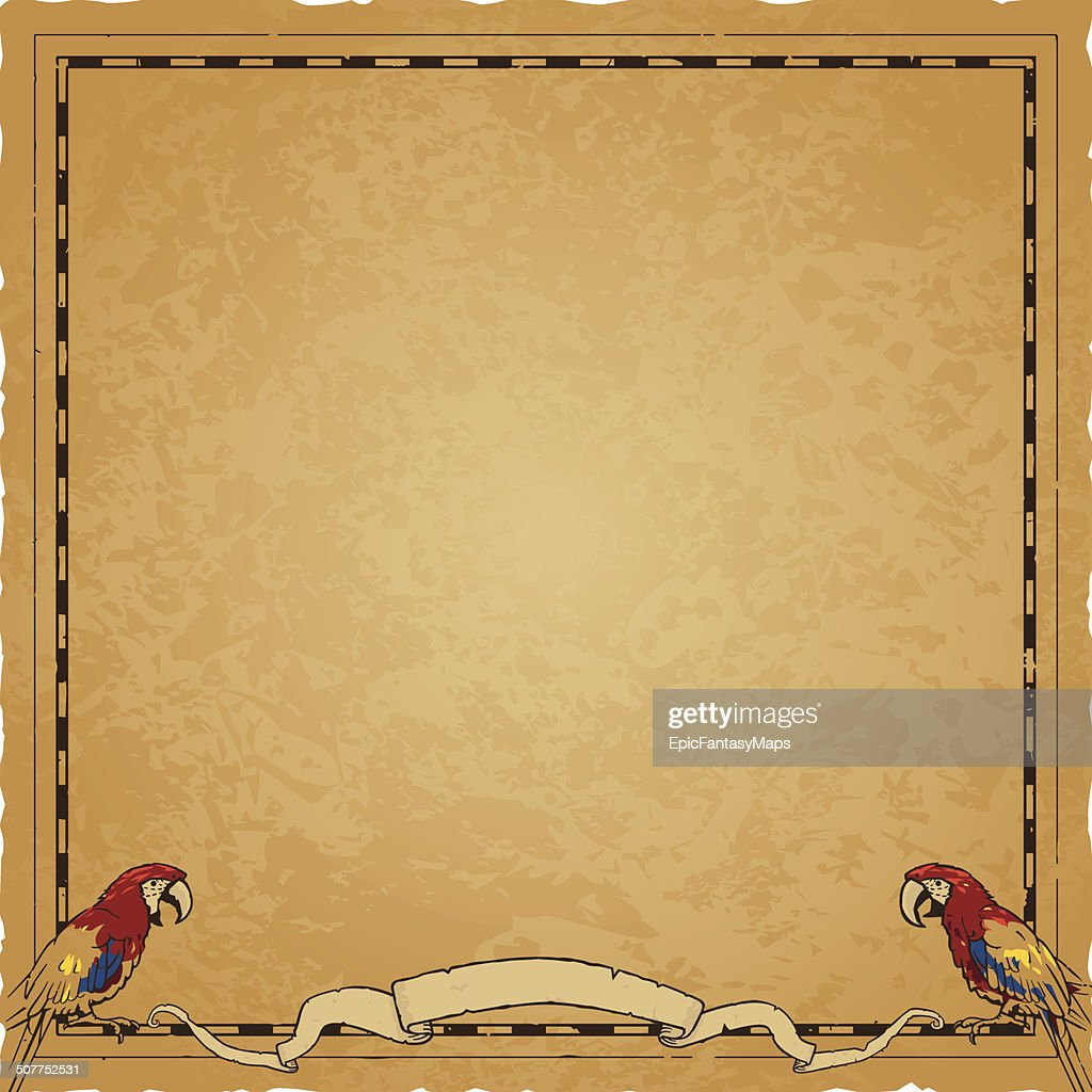 Square Pirate Map Frame Vector Art | Getty Images